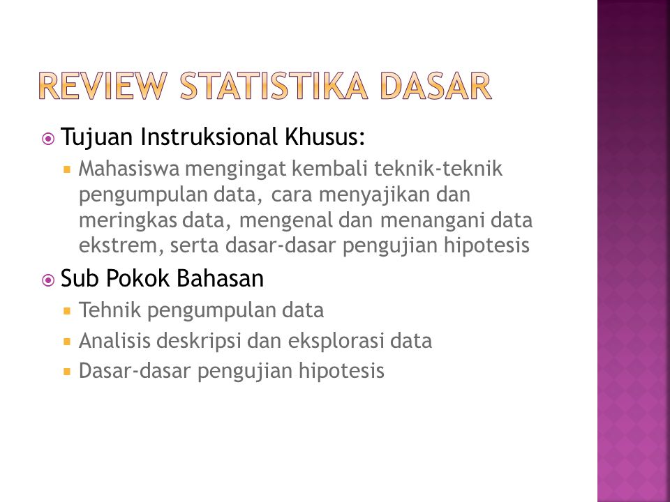 Review Statistika Dasar