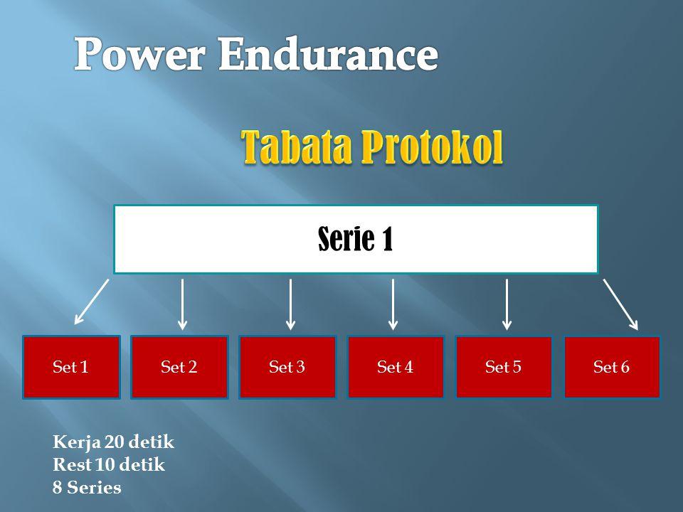 Power Endurance Tabata Protokol Serie 1 Kerja 20 detik Rest 10 detik