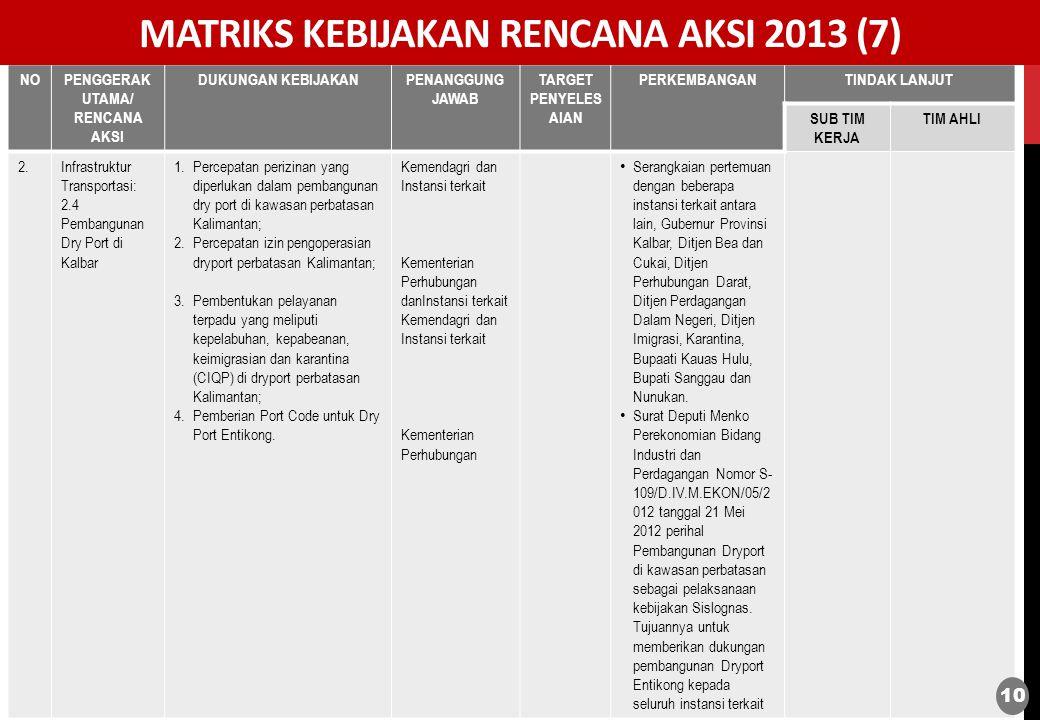 MATRIKS KEBIJAKAN RENCANA AKSI 2013 (7)