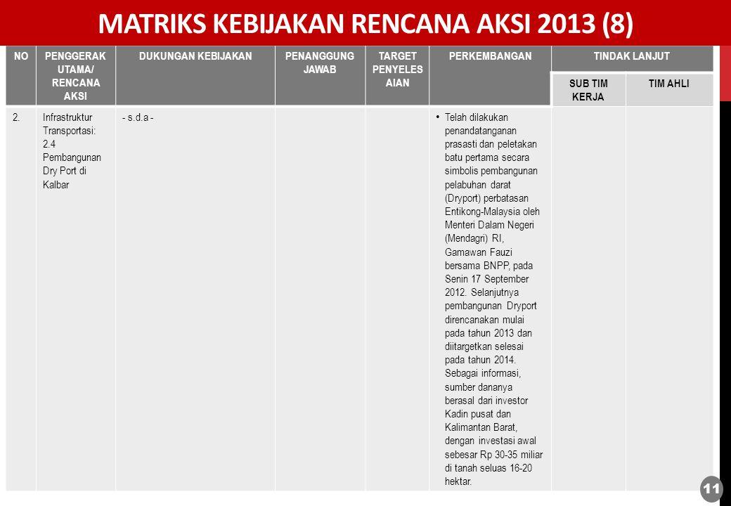 MATRIKS KEBIJAKAN RENCANA AKSI 2013 (8)