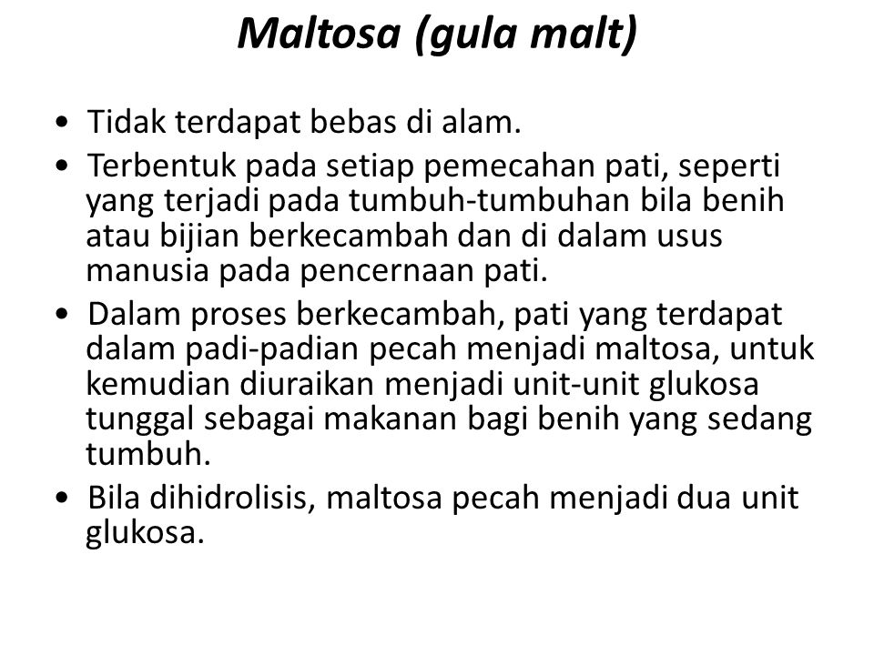 Maltosa (gula malt)