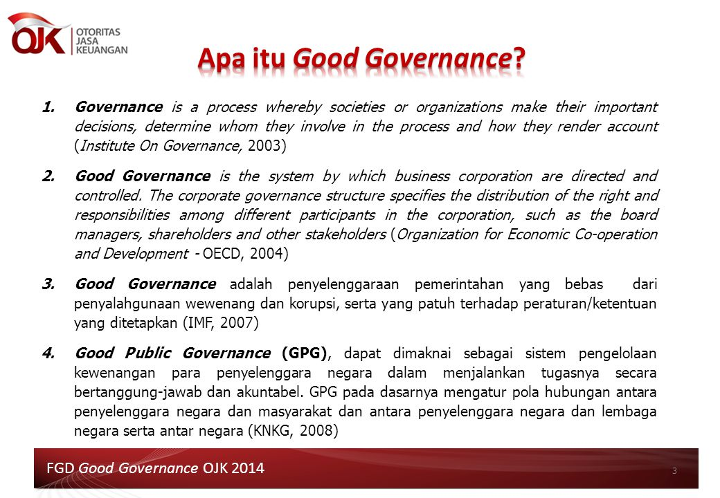 Apa itu Good Governance