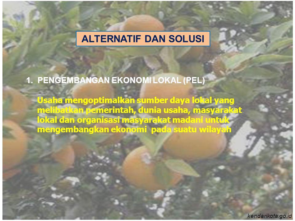 ALTERNATIF DAN SOLUSI 1. PENGEMBANGAN EKONOMI LOKAL (PEL)