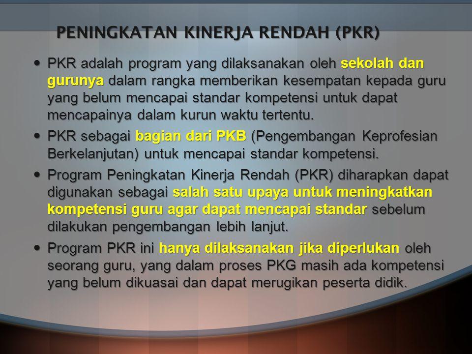 PENINGKATAN KINERJA RENDAH (PKR)