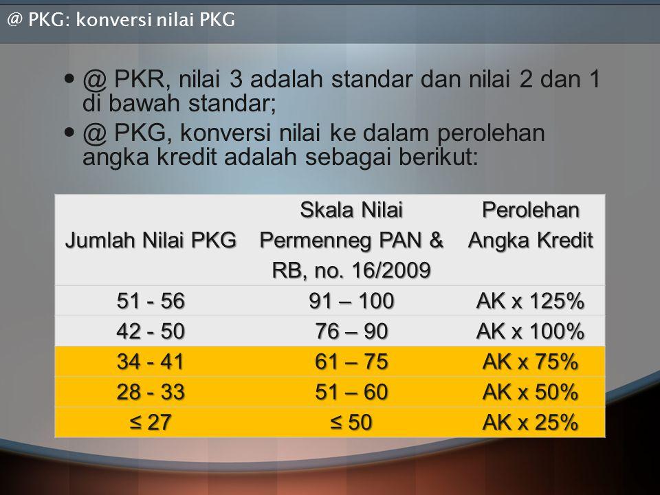 @ PKG: konversi nilai PKG