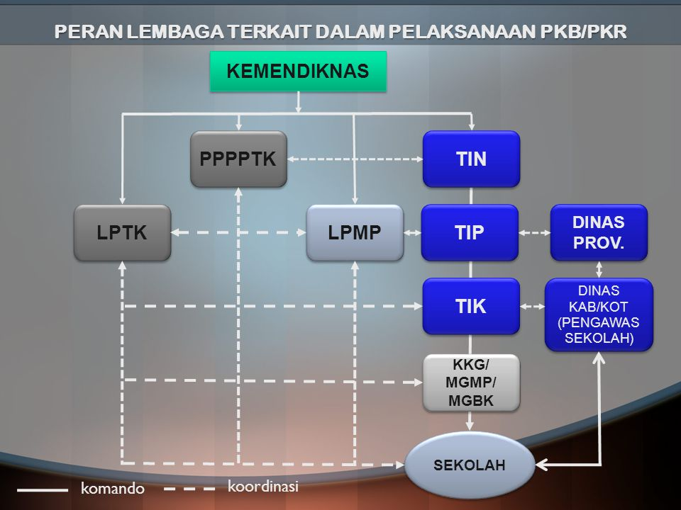 PERAN LEMBAGA TERKAIT DALAM PELAKSANAAN PKB/PKR