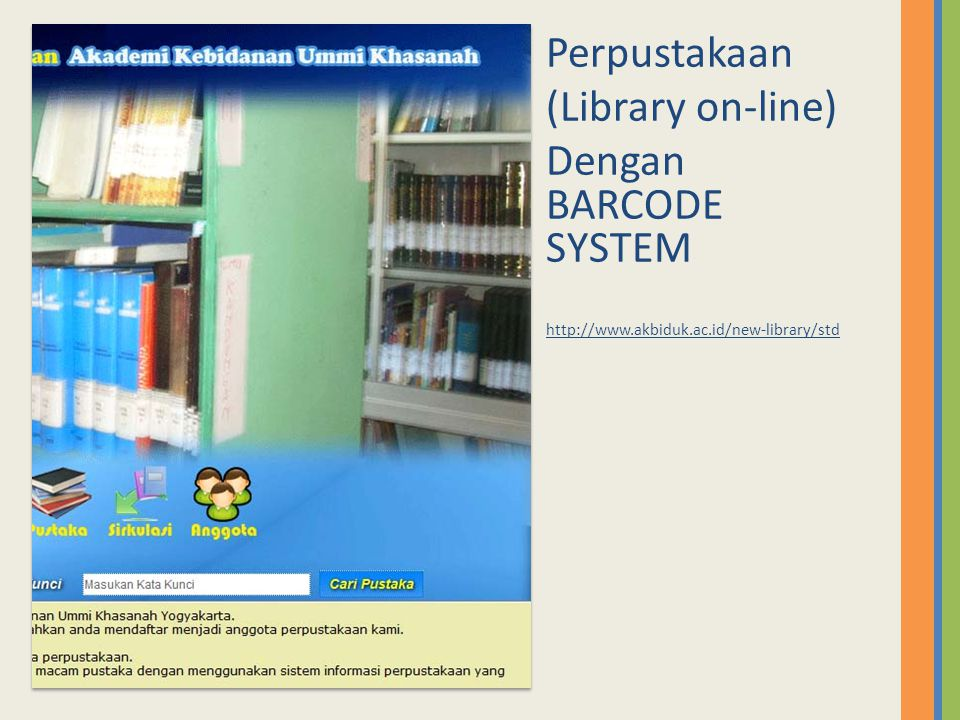 Perpustakaan (Library on-line) Dengan BARCODE SYSTEM