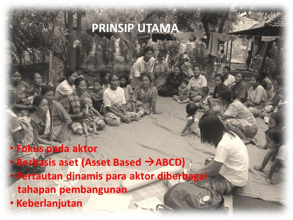 PRINSIP UTAMA Tiga unsur utama CLAPP Fokus pada aktor