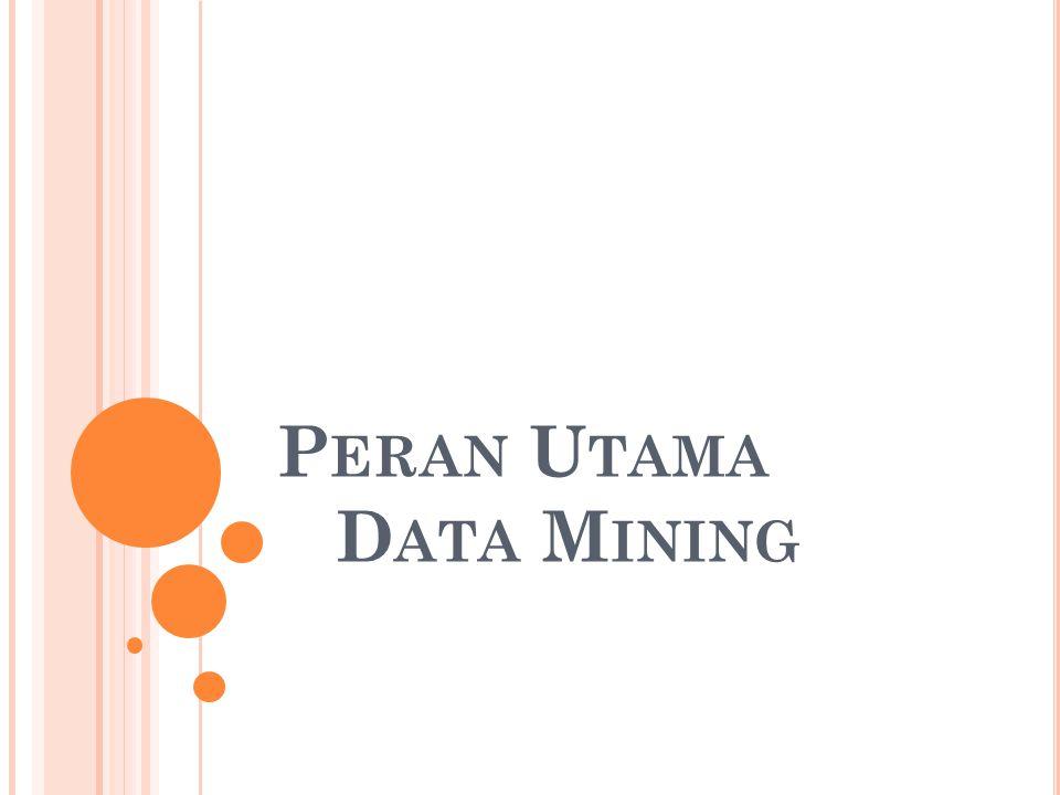 Peran Utama Data Mining