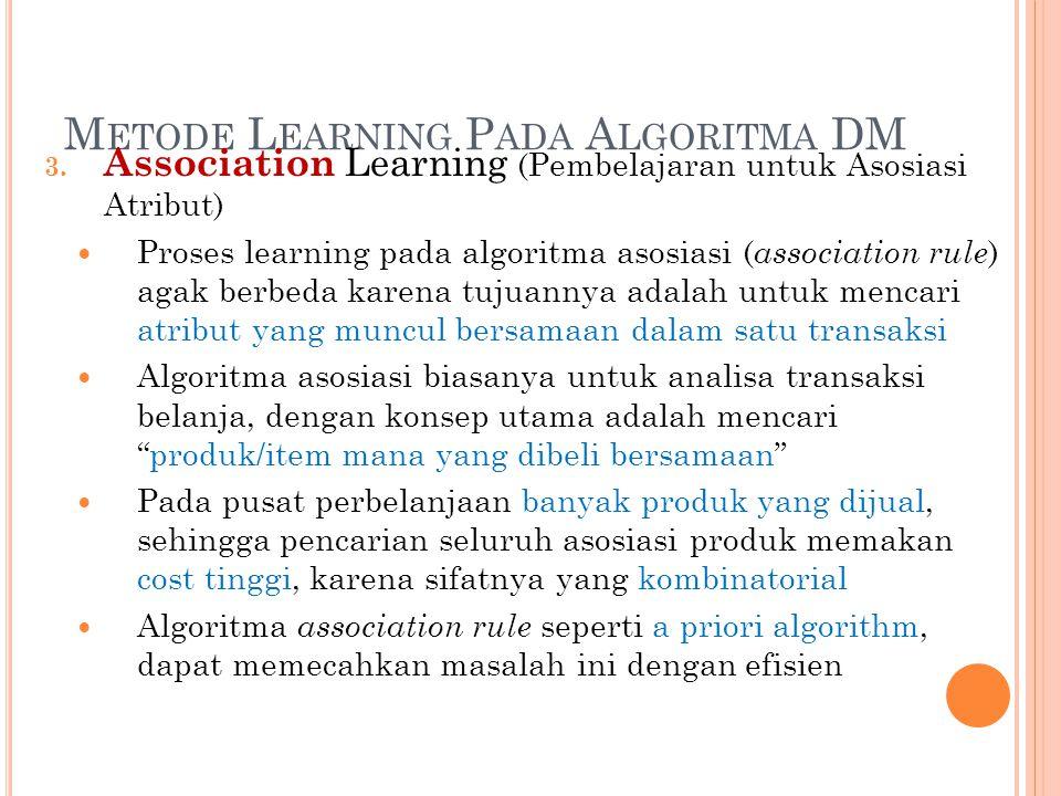 Metode Learning Pada Algoritma DM