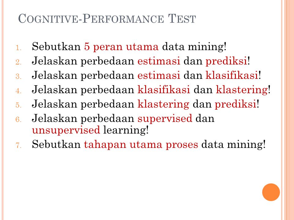 Cognitive-Performance Test