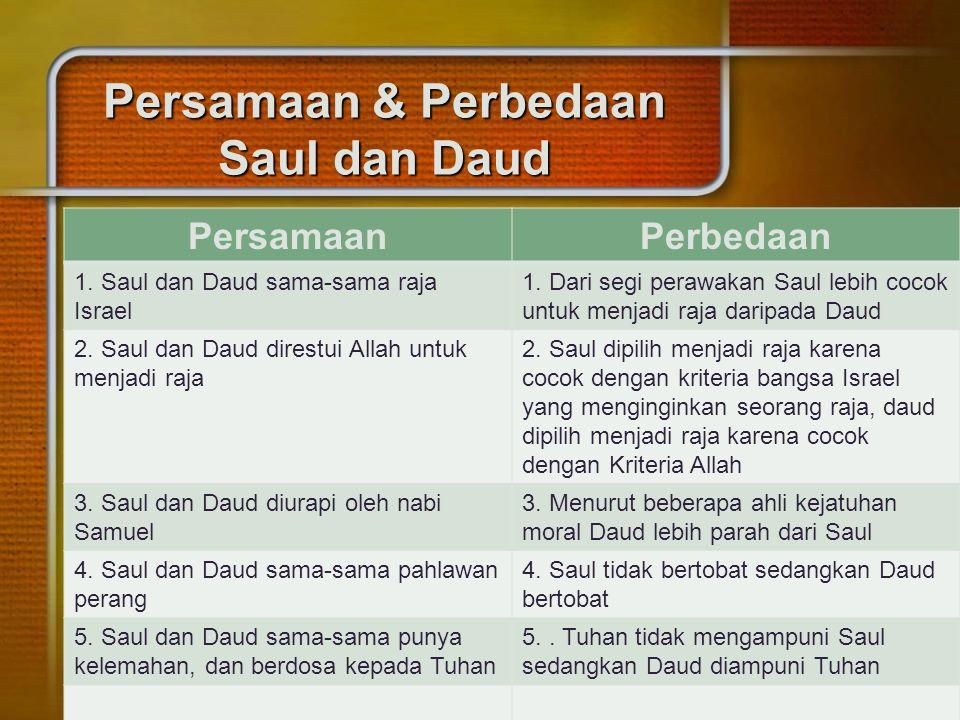 Persamaan & Perbedaan Saul dan Daud