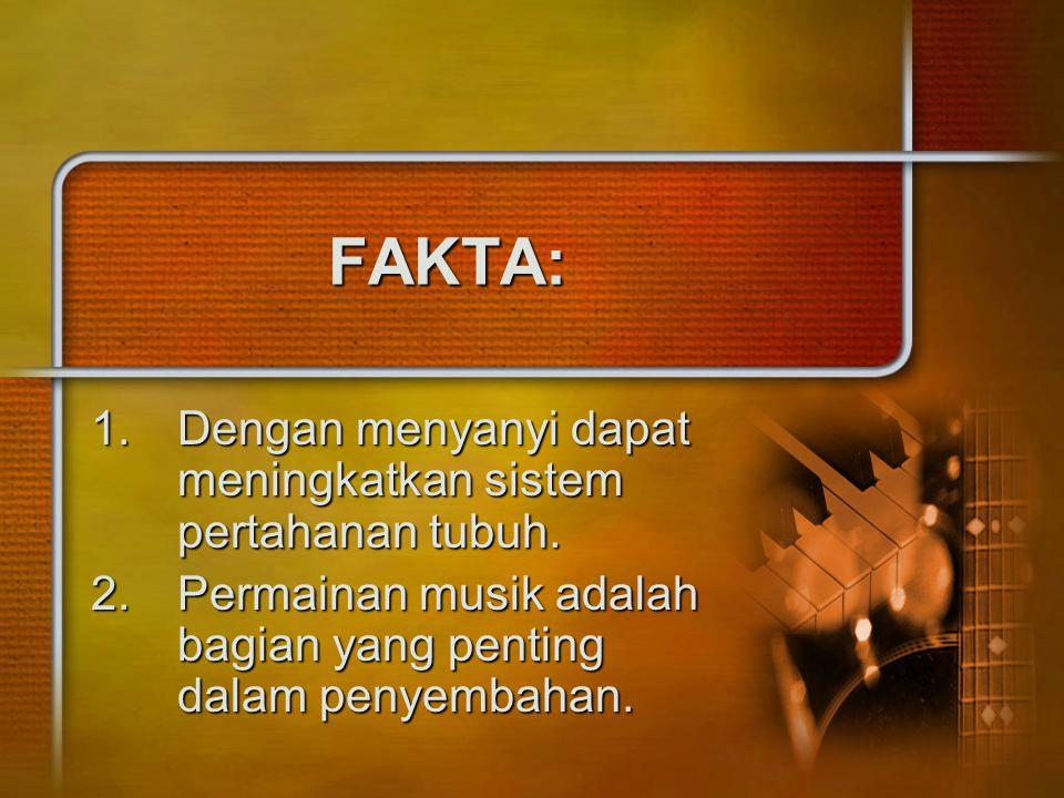 FAKTA: Dengan menyanyi dapat meningkatkan sistem pertahanan tubuh.