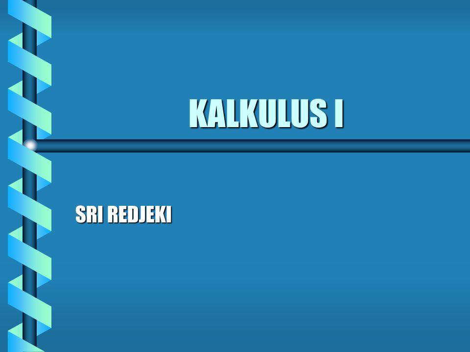 KALKULUS I SRI REDJEKI