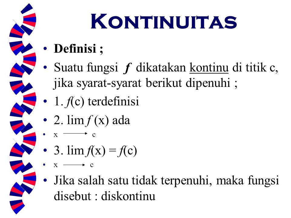Kontinuitas Definisi ;