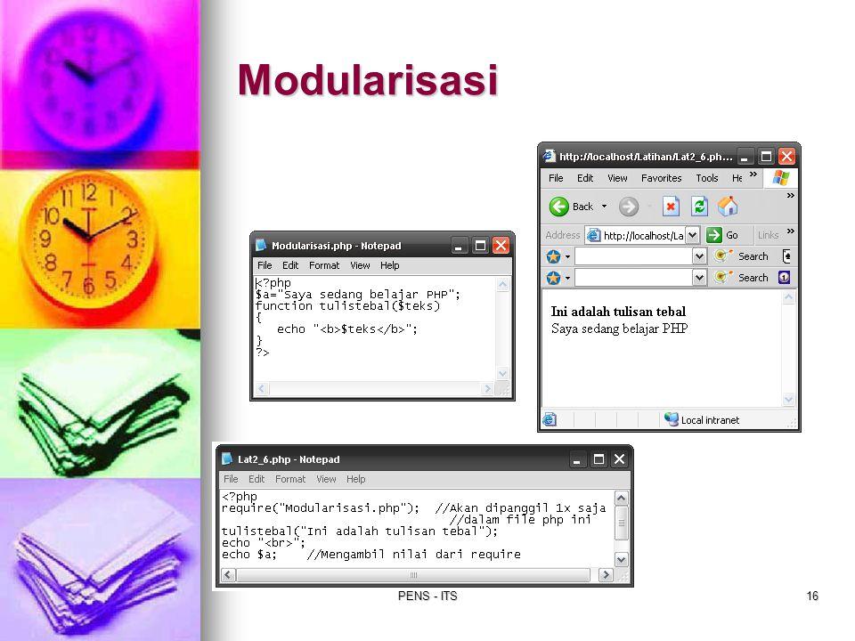Modularisasi PENS - ITS