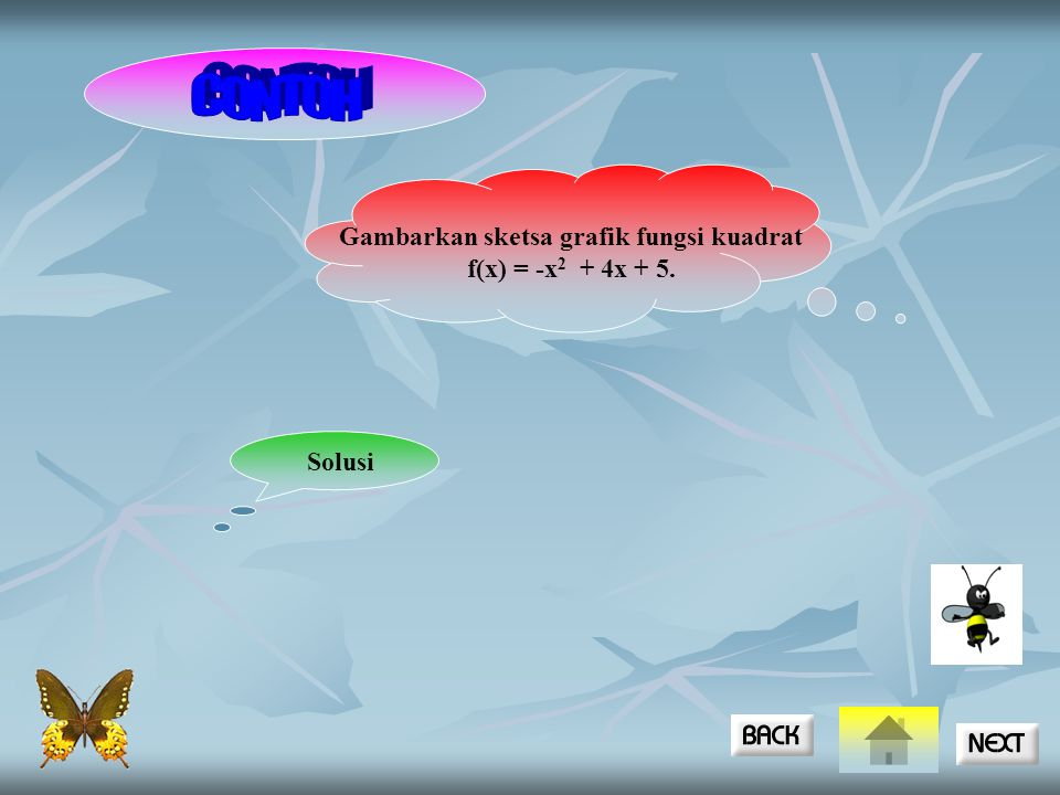 Gambarkan sketsa grafik fungsi kuadrat