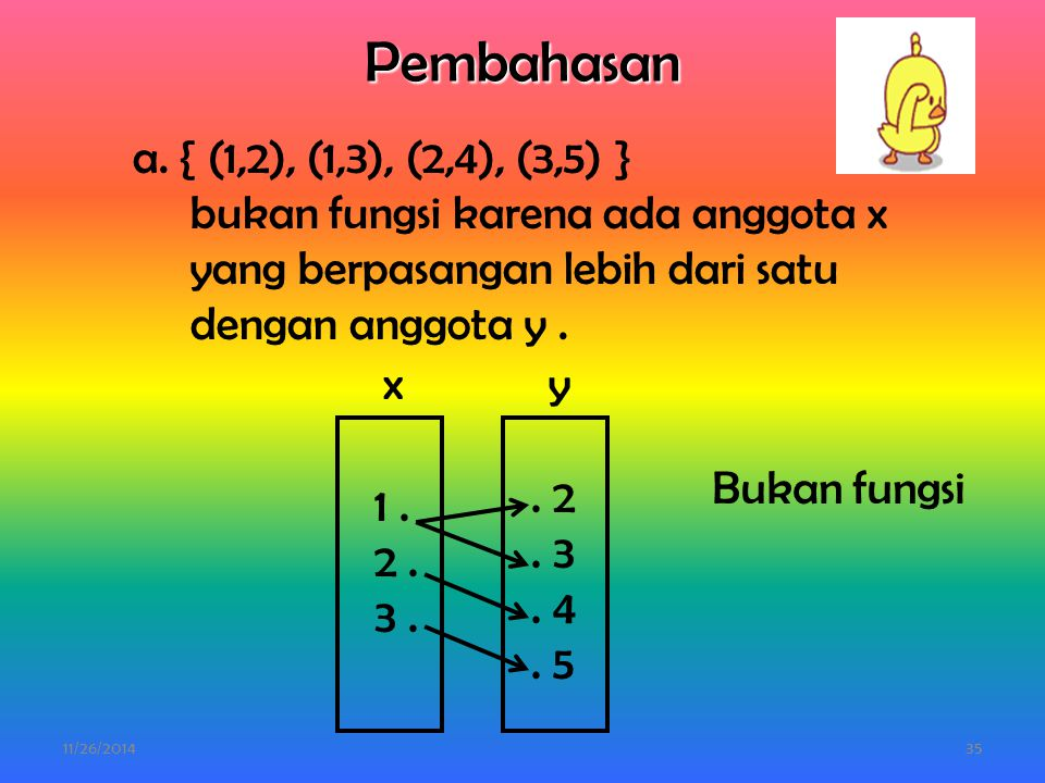 Pembahasan a. { (1,2), (1,3), (2,4), (3,5) }