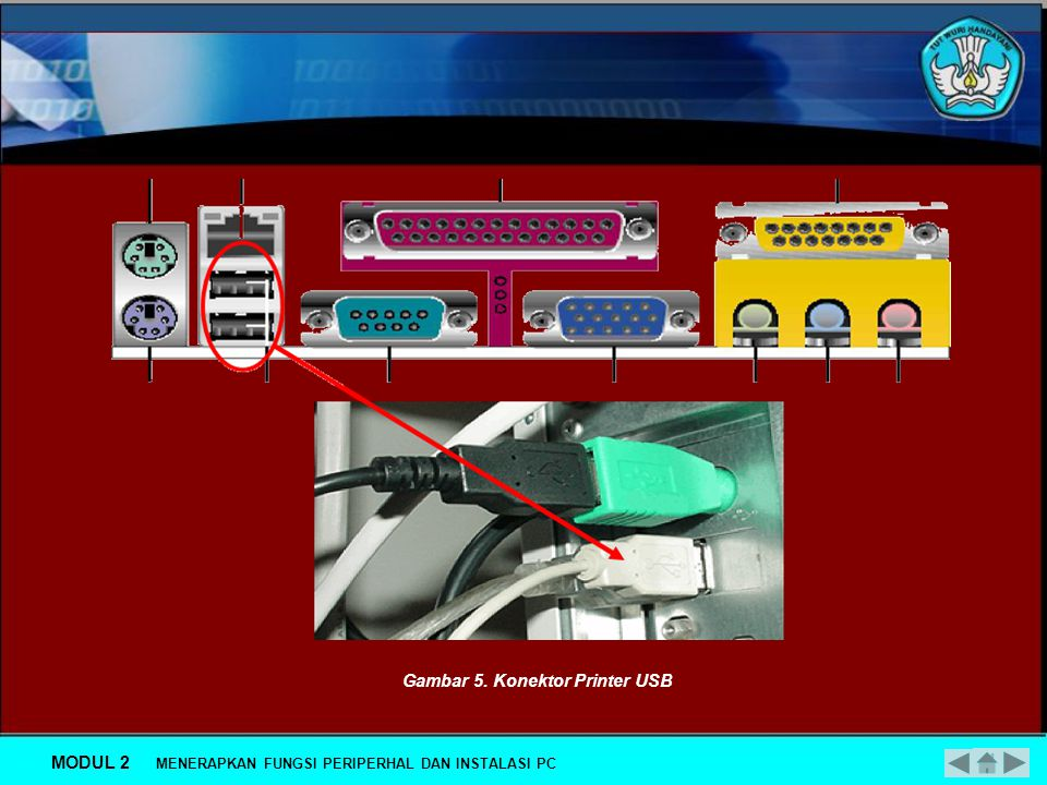 Gambar 5. Konektor Printer USB