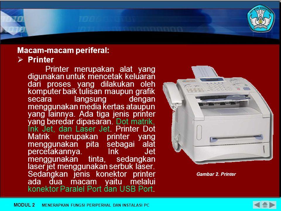 Macam-macam periferal: Printer