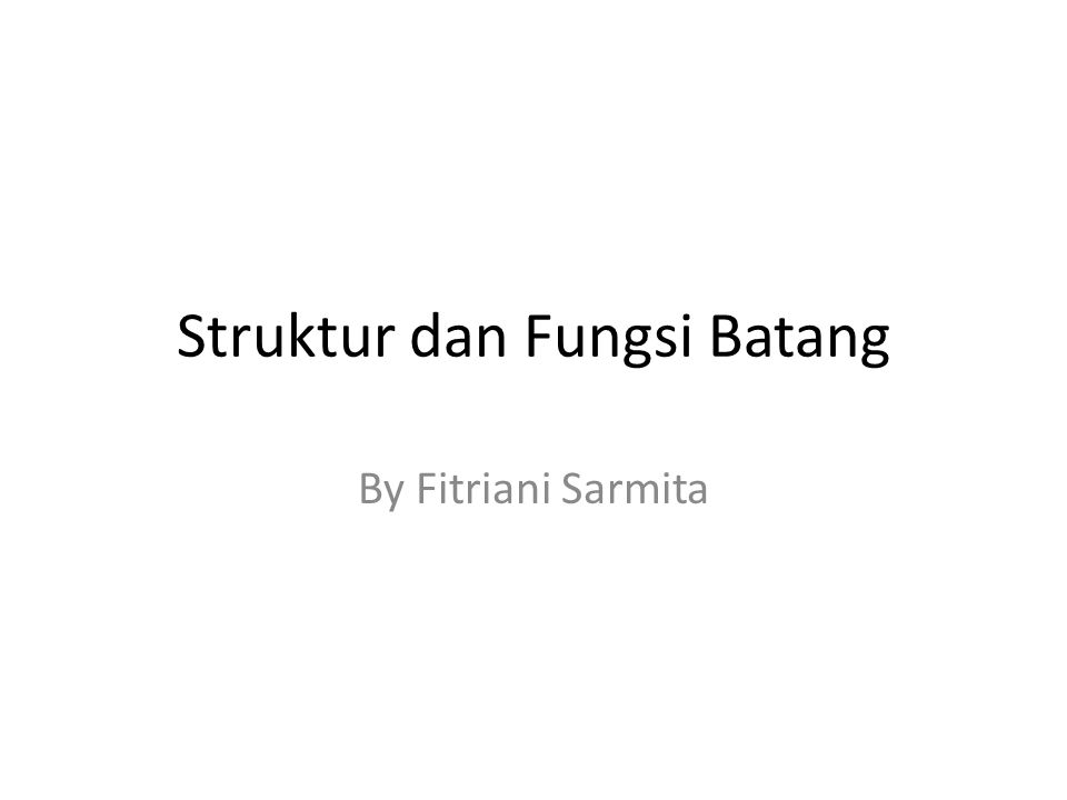 Struktur dan Fungsi Batang