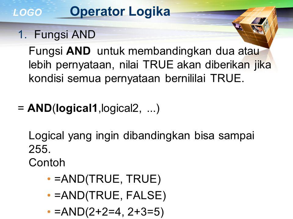 Operator Logika Fungsi AND