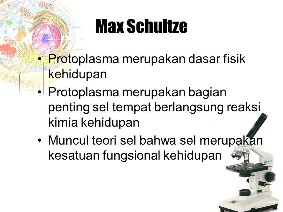 Max Schultze Protoplasma merupakan dasar fisik kehidupan