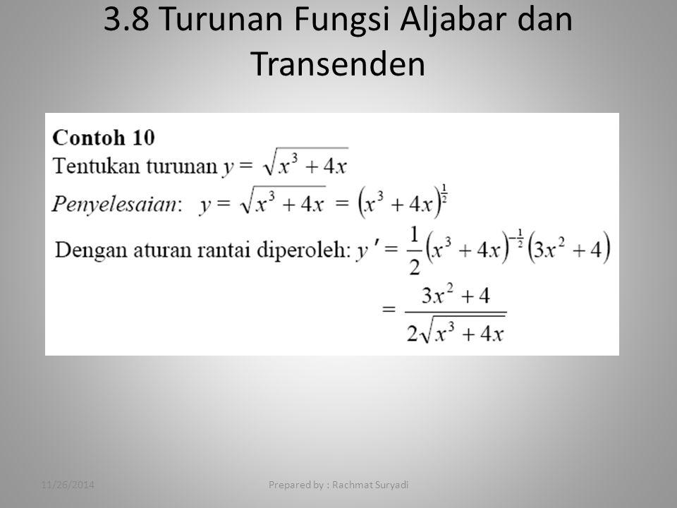 3.8 Turunan Fungsi Aljabar dan Transenden