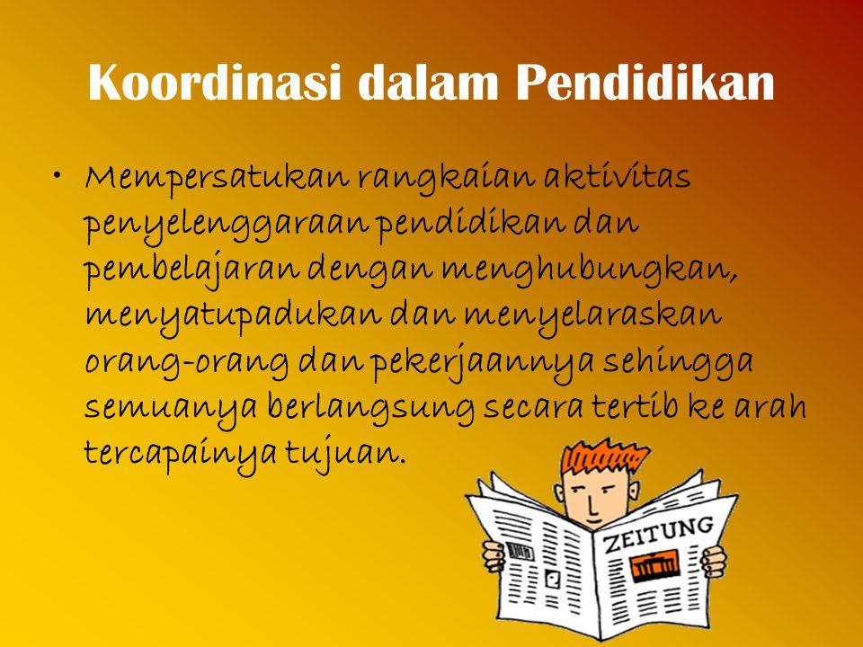 Koordinasi dalam Pendidikan