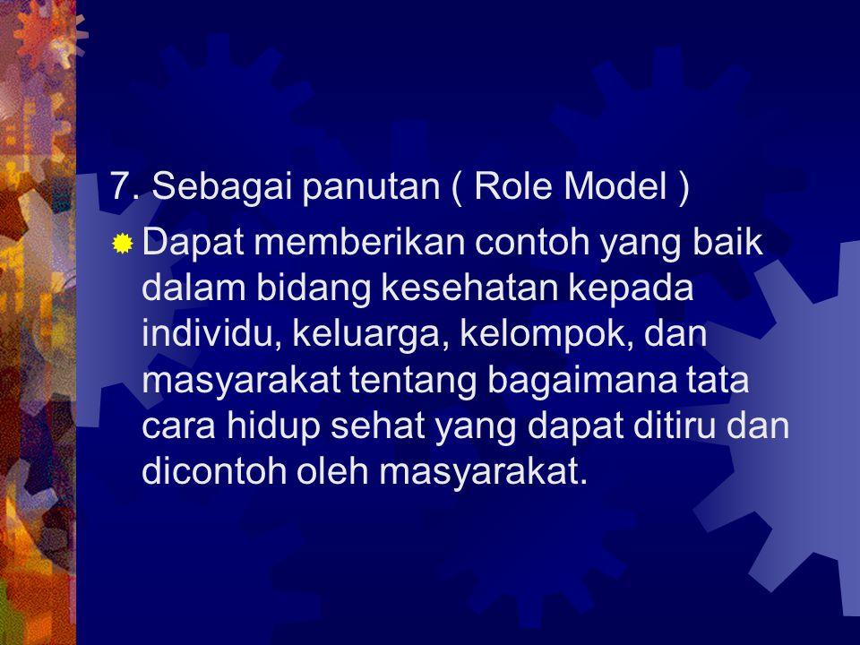 7. Sebagai panutan ( Role Model )