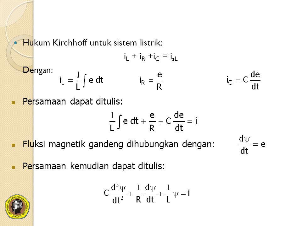 Hukum Kirchhoff untuk sistem listrik: