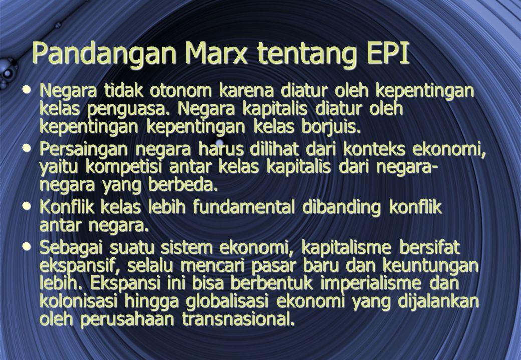 Pandangan Marx tentang EPI