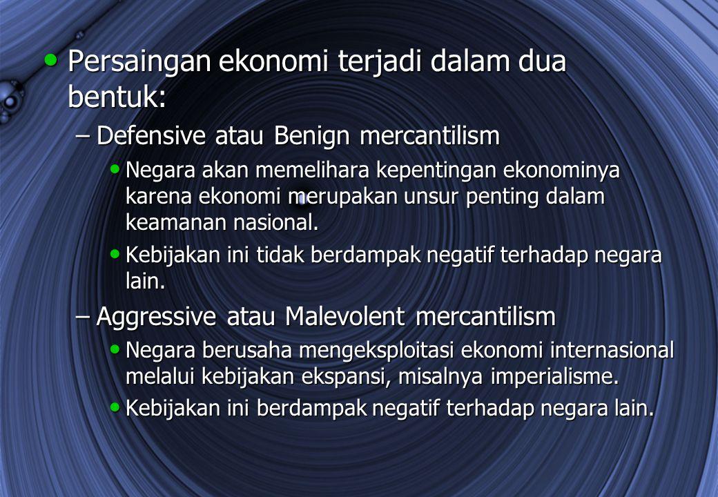 Persaingan ekonomi terjadi dalam dua bentuk: