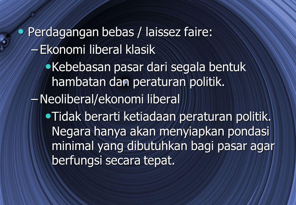 Perdagangan bebas / laissez faire:
