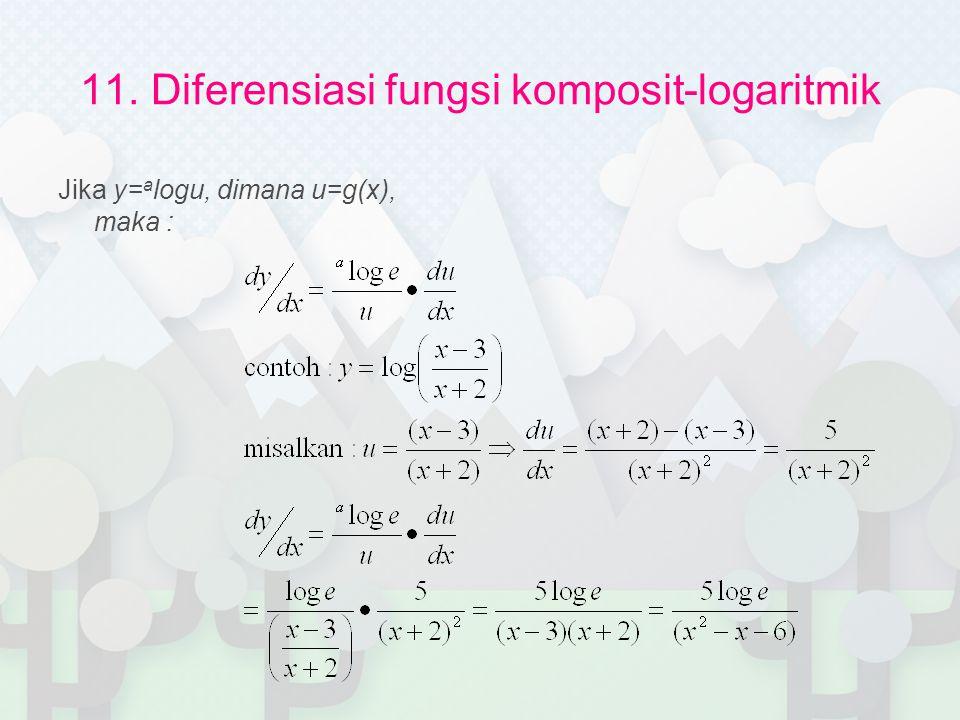 11. Diferensiasi fungsi komposit-logaritmik