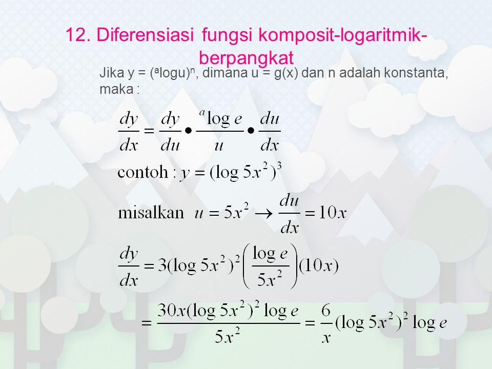 12. Diferensiasi fungsi komposit-logaritmik-berpangkat