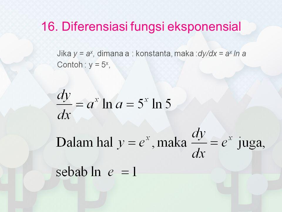 16. Diferensiasi fungsi eksponensial