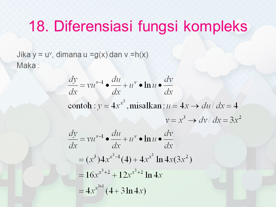 18. Diferensiasi fungsi kompleks