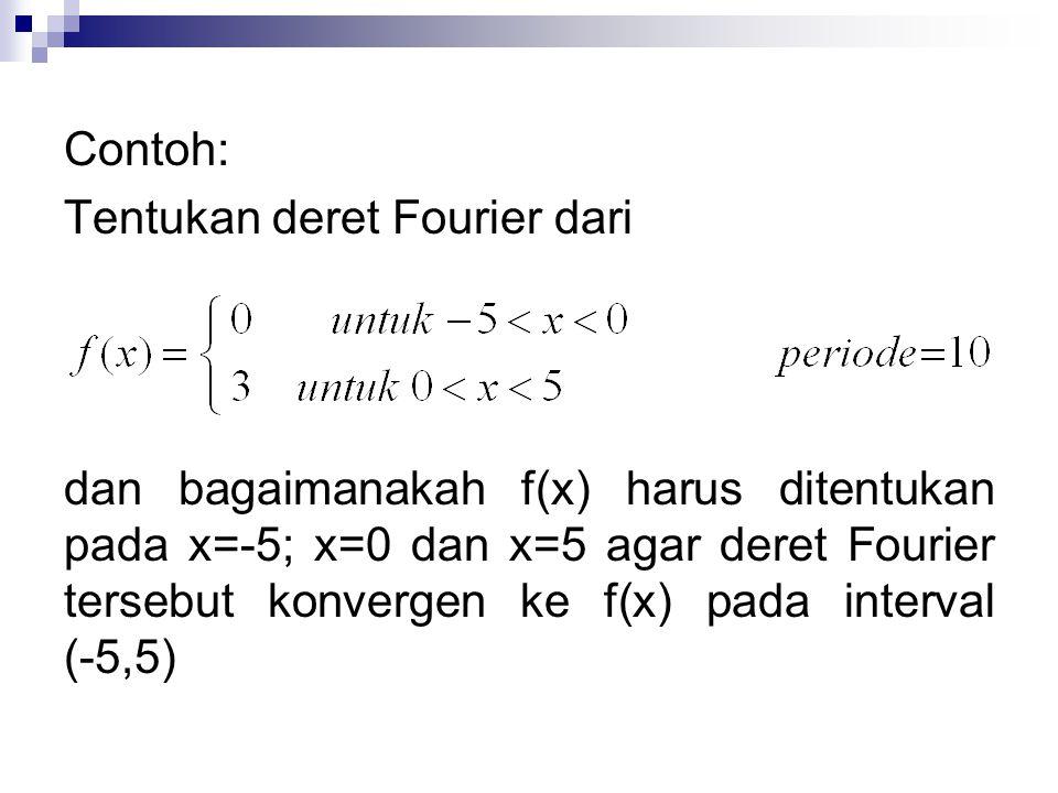 Contoh: Tentukan deret Fourier dari.