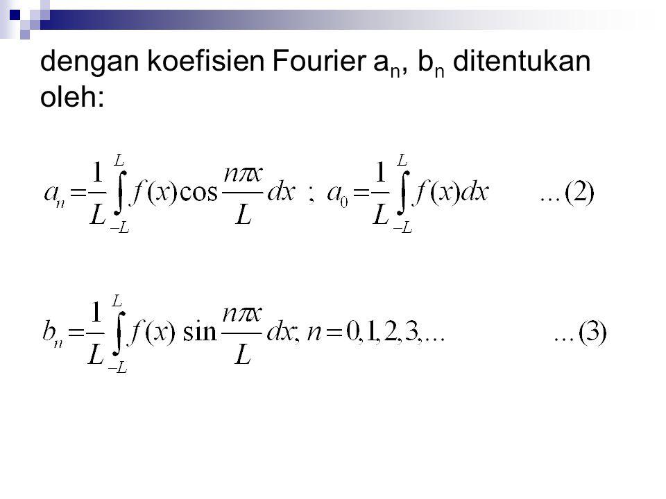 dengan koefisien Fourier an, bn ditentukan oleh: