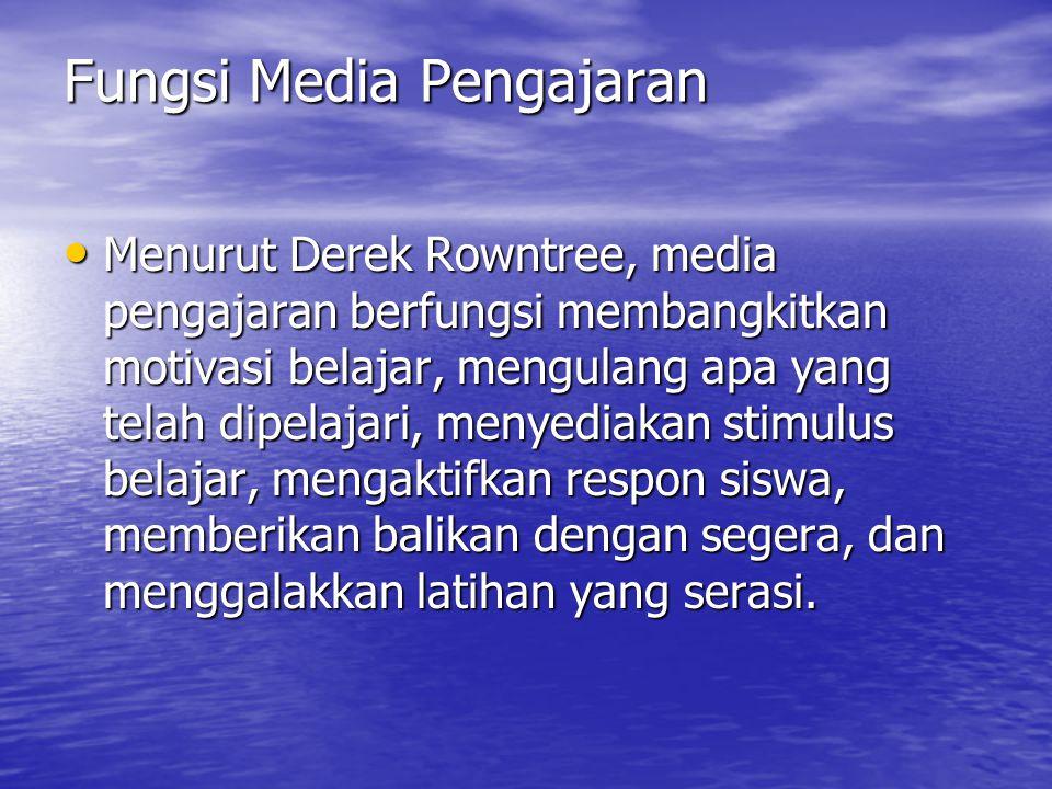 Fungsi Media Pengajaran