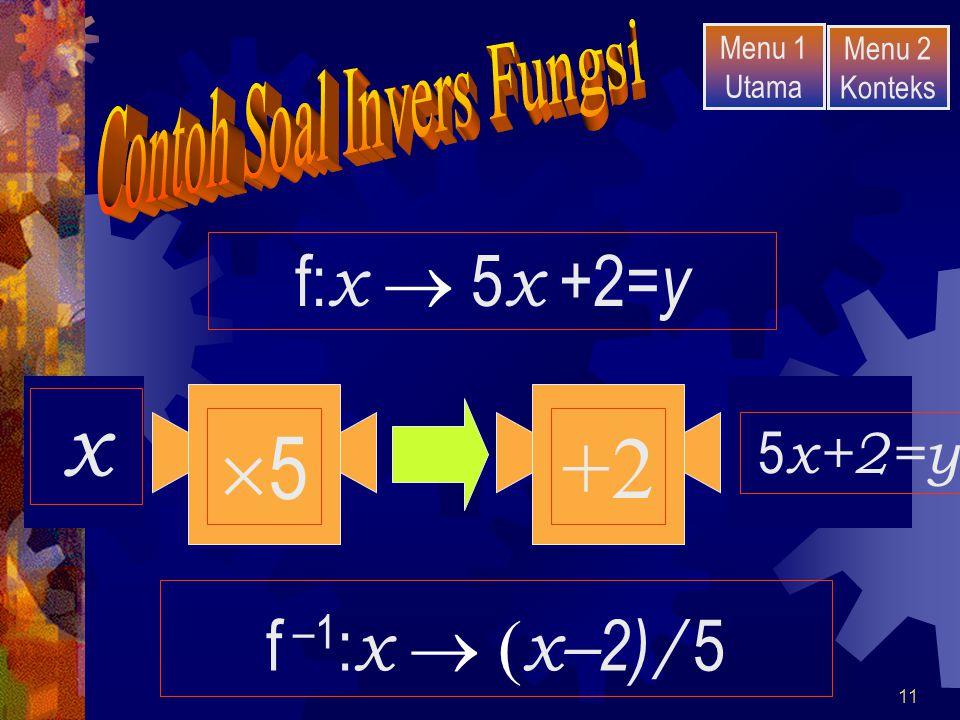 Contoh Soal Invers Fungsi