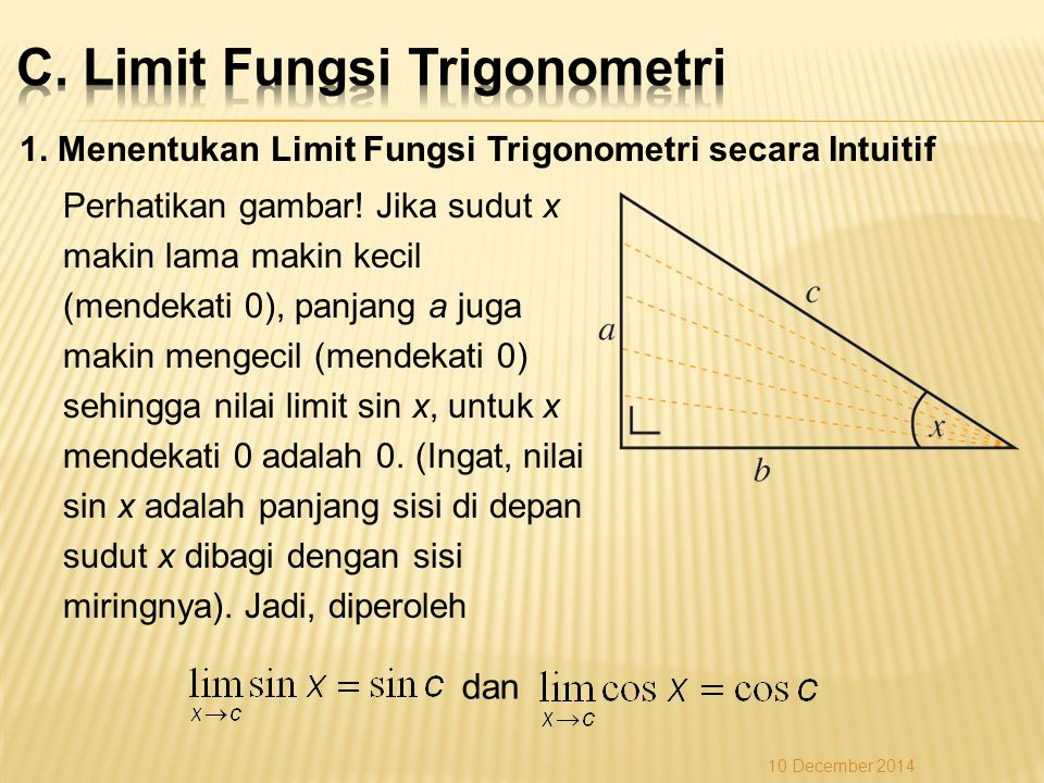 C. Limit Fungsi Trigonometri