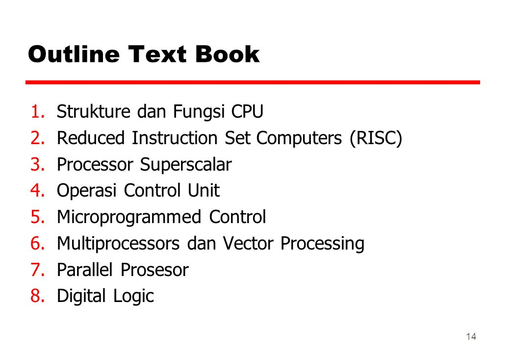 Outline Text Book Strukture dan Fungsi CPU