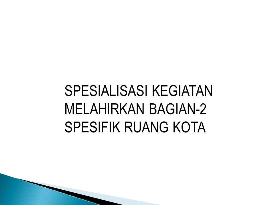 SPESIALISASI KEGIATAN MELAHIRKAN BAGIAN-2 SPESIFIK RUANG KOTA