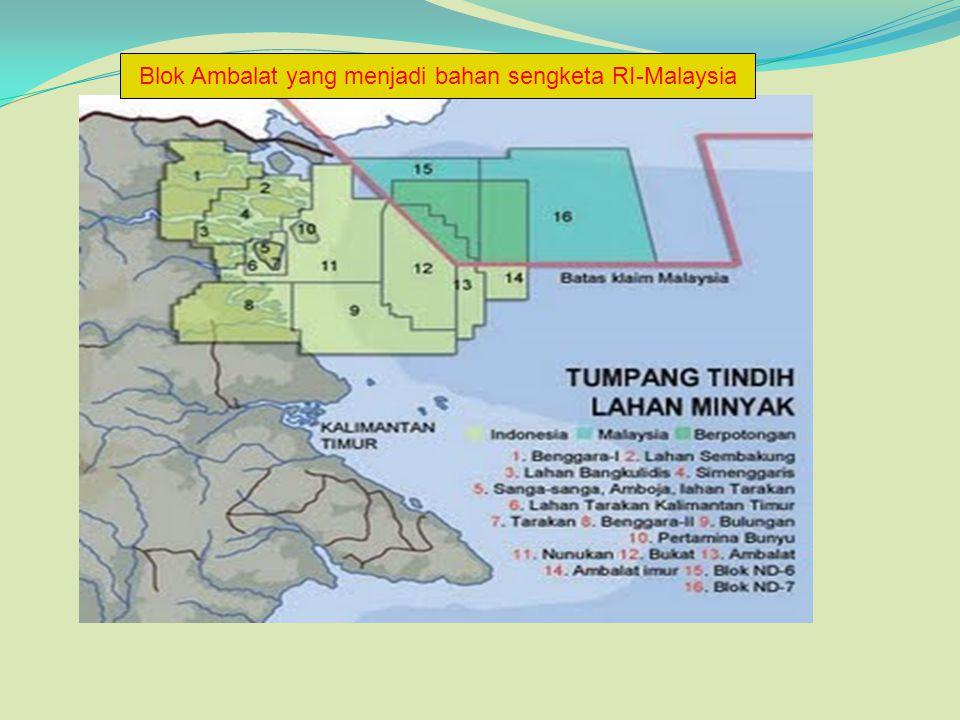 Blok Ambalat yang menjadi bahan sengketa RI-Malaysia
