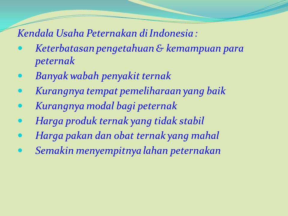 Kendala Usaha Peternakan di Indonesia :