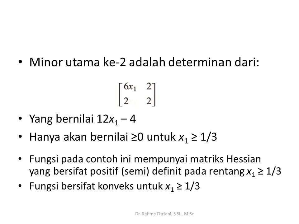 Minor utama ke-2 adalah determinan dari: