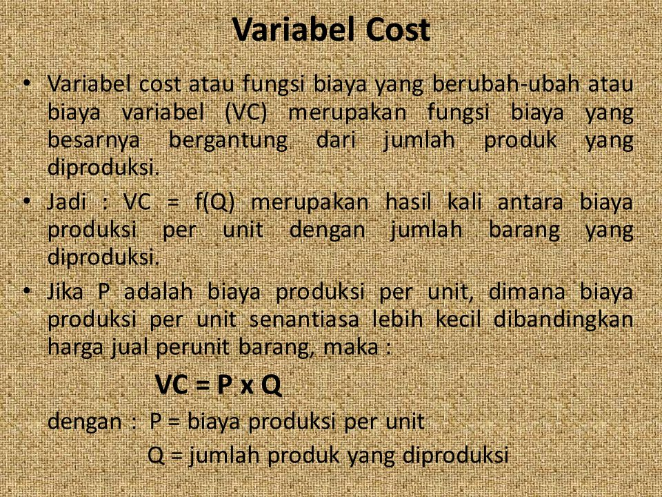 Variabel Cost