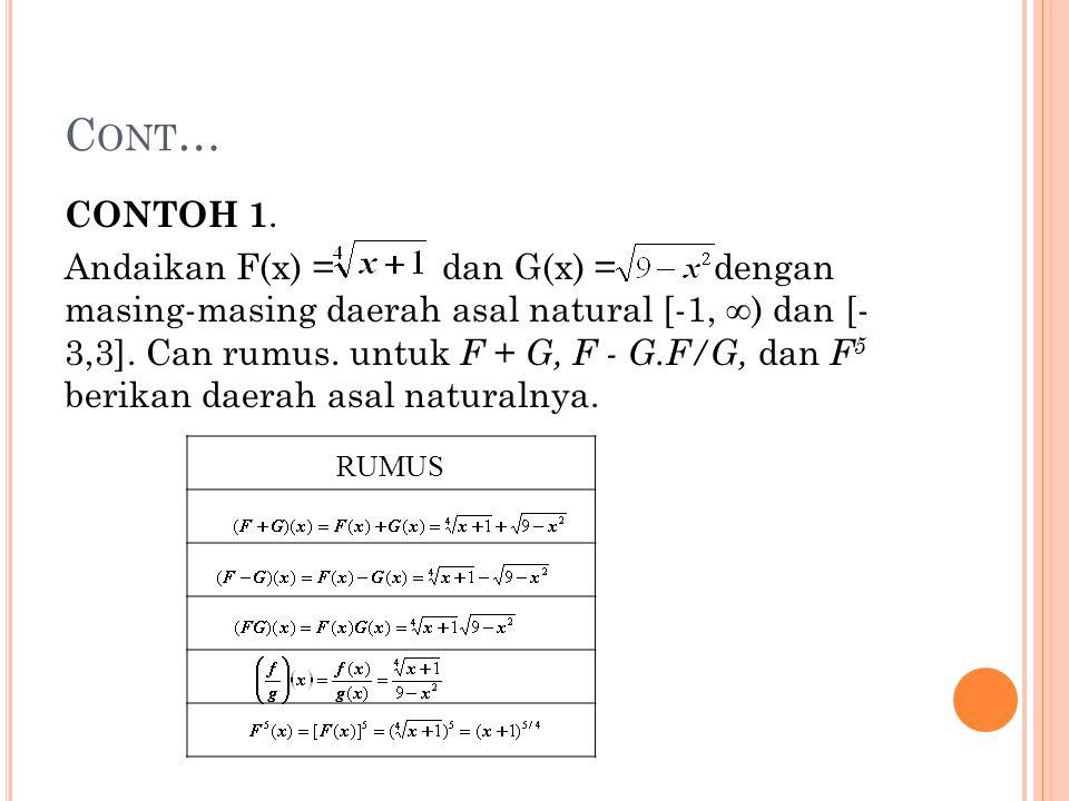 Cont… CONTOH 1.